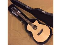 Faith FKV12 Naked Series Venus Concert 12-String Electro-Acoustic Guitar - INC: HARD CASE