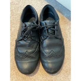 Clark's black girls school shoes 3E