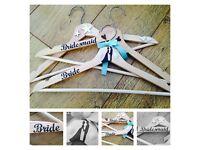 Wedding dress hangers - personalised bride groom bridesmaid gifts