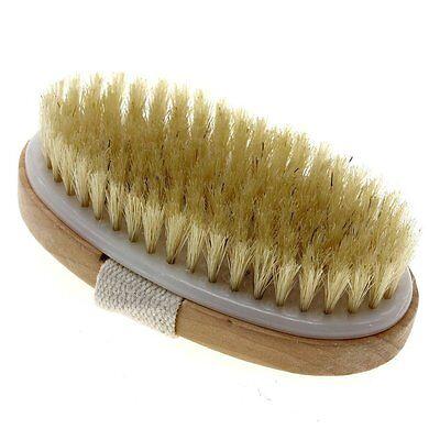 Touch Me Dry Skin Bath Body Brush Natural Boar Bristle Spa Sauna Exfoliator - Dry Skin Body Brushing