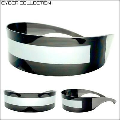 SPACE ROBOT PARTY RAVE COSTUME CYCLOPS FUTURISTIC SHIELD DJ SUN GLASSES (Cyclops Sun Glasses)