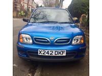 Nissan Micra 1.0L 2000 X reg Blue 5 Door Hatchback £495 ono FSH