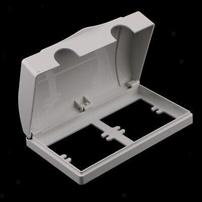 Wasserdichte Steckdose / Schalter Schutz Gehäuse Fall mit 2 Löcher Weiß Wasser-steckdose Gehäuse