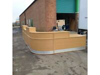 Oak reception desk