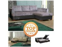 Camdem sofabed sofa corner left or right hand facing fabric grey black mink cream brown bed
