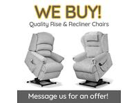 Wanted - Sherborne & HSL Electric Riser And Recliner Chairs / Mobility Rise Chair