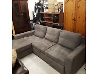 Fabric Corner Sofa Bed Grey (right side available- left side on the photo)