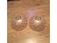 2 Tiffany style ceiling lamp shades