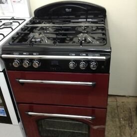 Red leisure gourmet gas cooker with double oven new/graded 12 mth gtee