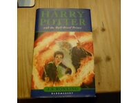 HARRY POTTER and the Half-Blood Prince first edition, misprint