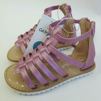 Gladiator Sandals For Toddlers (Cat & Jack Girls Toddlers Pink Fionna Gladiator Sandals Size 6, 7 ~)