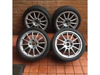 Alloy wheels and track tyres