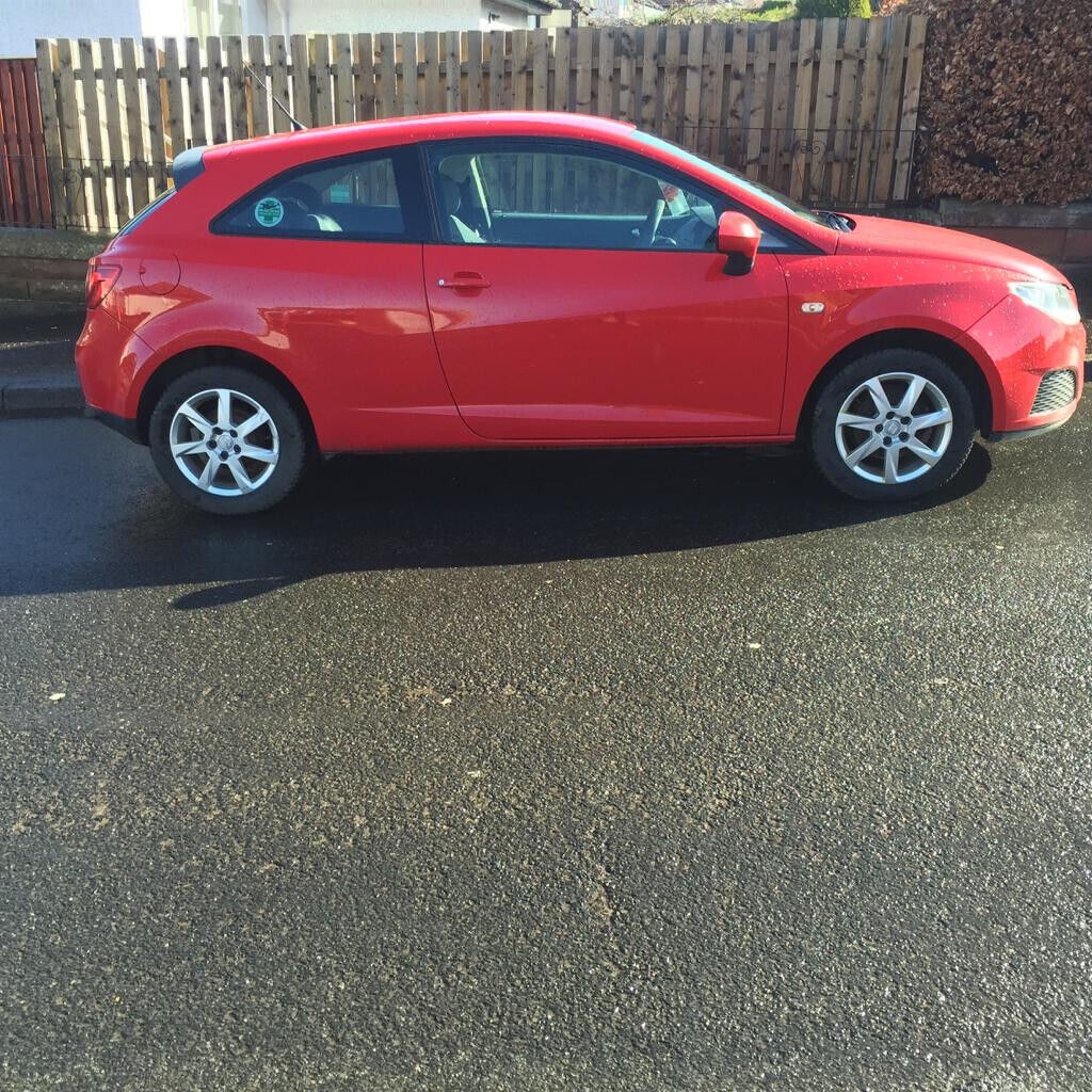 Seat Ibiza ecomotive 1 4 Tdi 3 Dr coupe 2009 59 red MP3 aux points electric  windows & mirrors | in Burnside, Glasgow | Gumtree