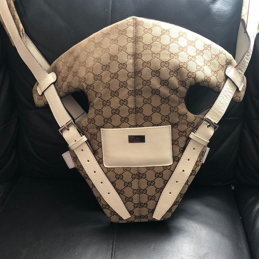 f5802140221 Gucci baby carrier limited edition white