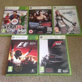 5x Xbox 360 Games
