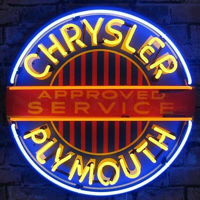 Chrysler Plymouth Neon Sign With Backing 5CRYPL w/ FREE Shipping