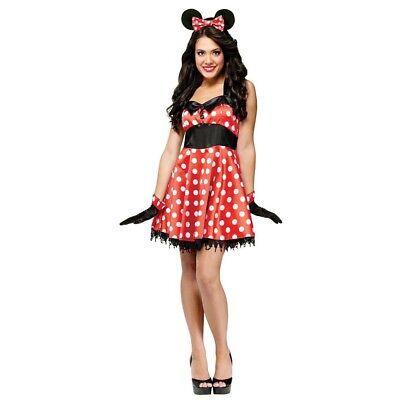 Mouse Costume Women (Fun World Women's Retro Miss Minnie Mouse Costume |)