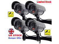 Outdoor Dummy Fake LED Flashing Security Camera CCTV Surveillance Imitation UK