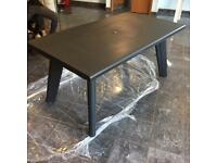 Black outdoor garden table