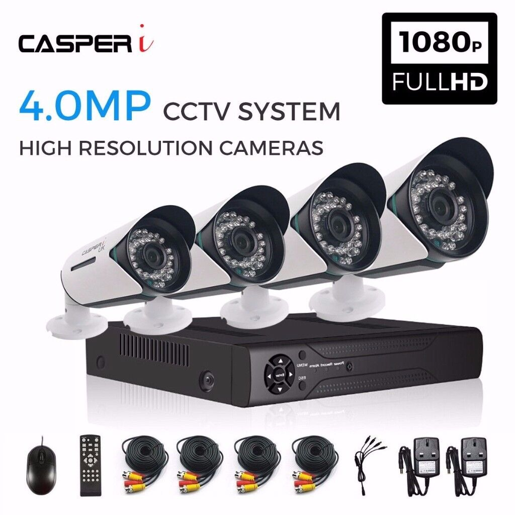 4CH HD DVR - 4x 4.0MP CCTV Camera