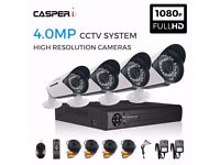 4CH HD DVR - 4x 4.0MP CCTV Camera CVI TVI AHD System 5 IN 1 Kit In/Outdoor