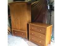 Mamas & Papas Wardrobe and 3 Drawer Chest. Excellent condition