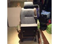 Single rear seat with 3 point seatbelt