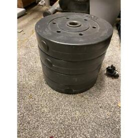4 x 5kg vinyl weights
