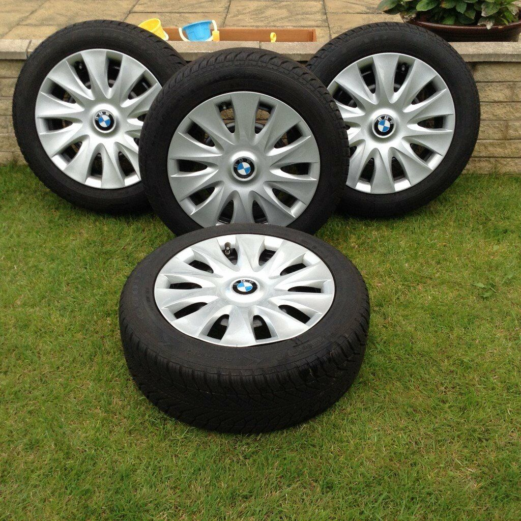 4 genuine goodyear bmw 1 series run flat winter wheels. Black Bedroom Furniture Sets. Home Design Ideas