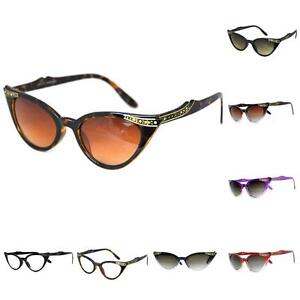 Retro-50s-60s-Style-Cats-Eye-Diamante-Sunglasses-Rockabilly-Pin-Up-Vtg-NEW-BNWT