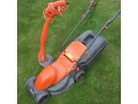 Flymo lawn mower & trimmer set