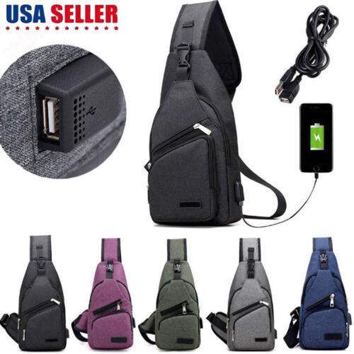Men Canvas Messenger Shoulder Bag Sling Chest Pack Crossbody