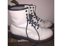 White Dr. Martens Size 7 UK