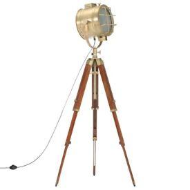 Tripod Floor Lamp Solid Mango Wood 165 cm-286112
