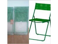 BRAND NEW 2 green folding chairs