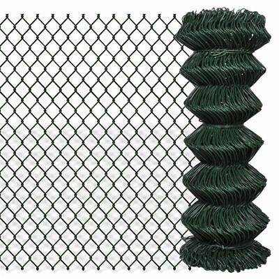 Chain Link Fence Galvanised Steel Green Garden Fencing Barrier Panel S7N7