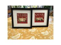 Two framed prints FREE