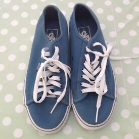 Pair light blue vans size 7
