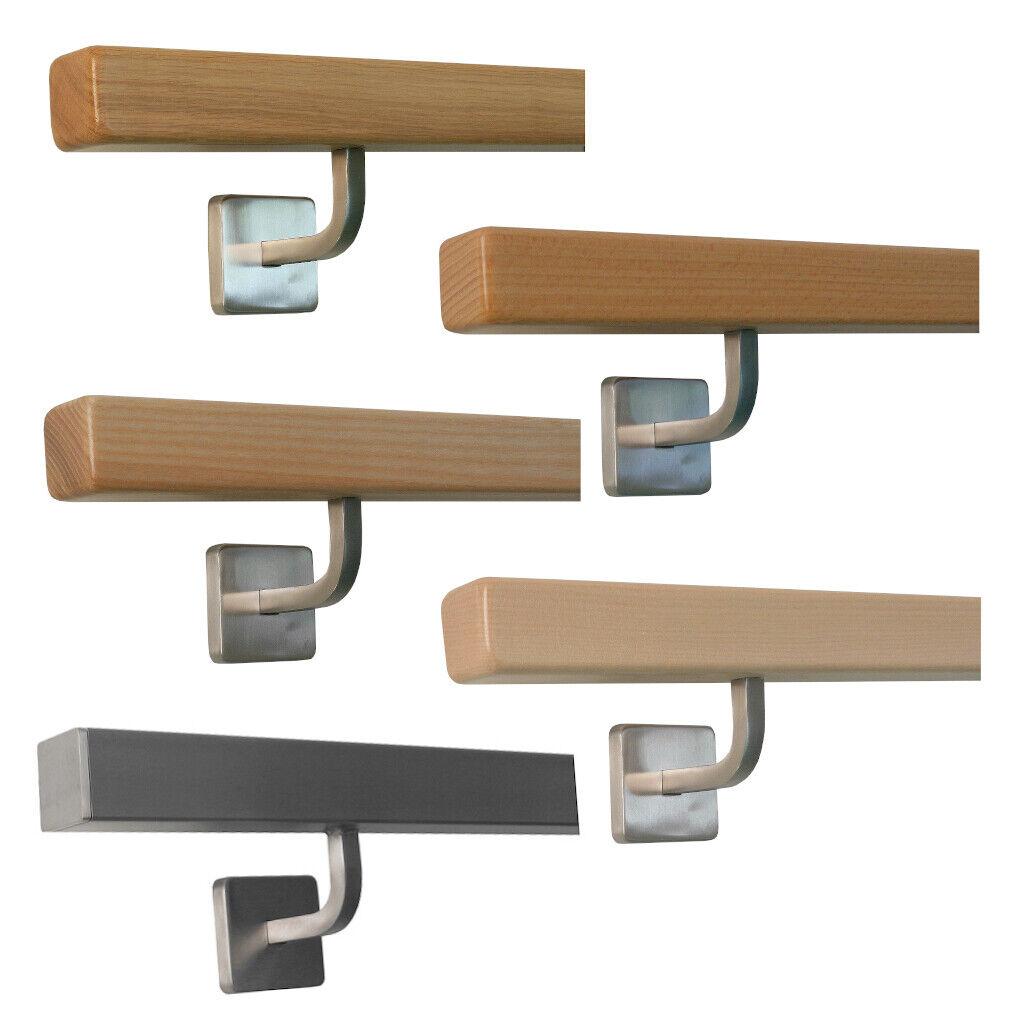 """Edelstahl Handlauf Modell /""""TIBU-Line/"""" Inkl V2A Halter Wand Geländer Treppe Griff"""