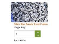 20 bags sealed each holds 20kg. Silver blue garnet gravel