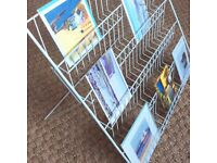 Greetings card display stand; for craft fairs, markets & shop.