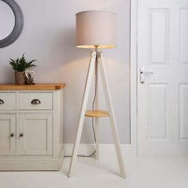 Wood Pink Panther Floor Lamp
