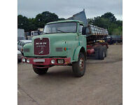 Left hand drive MAN Diesel 16.240 10 tyres 26 Ton tipper. 6 cylinder. Low miles