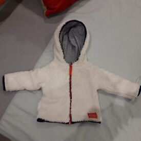 Joules reversable jacket aged 3 to 6 months.