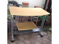 Computer table with shelf light colour south leicestershire