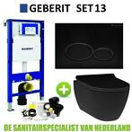 Geberit UP320 Toiletset set13 Idevit Alfa Matzwart Randlo...