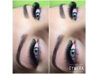 Eyelash extensions russian volume, permanent make up