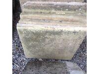 Concrete patio slabs