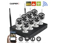8CH WiFi Wireless CCTV System NVR HD IP Cameras P2P Security Kit Easy MobileView