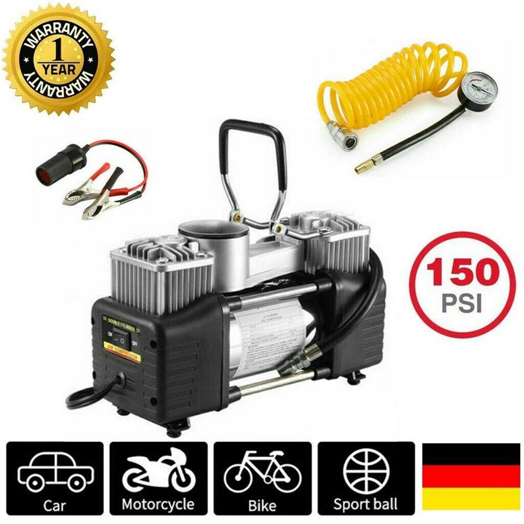 12V 150PSI Auto Reifen Kompressor Elektrische Luftpumpe Doppelzylinder Druckluft